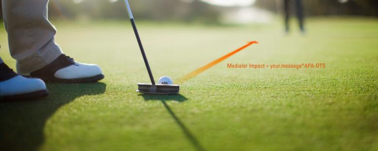 OTS-Sujet: Golf-Spieler am Abschlag